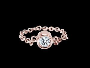 2.5 carat yards diamond bracelet chain style yard rose gold by pink gold