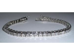 8.57 carat diamonds tennis bracelet bezel set jewelry