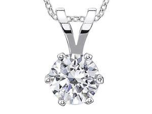 1 ct. sparkling round diamond jewelry pendant necklace