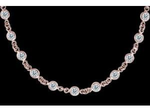 10 carat diamond yards 32? necklace by pendant rose gold bracelet yard bezel set