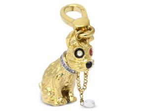 Approx. 0.60 carats diamonds memorable dog pendant yellow gold 14K