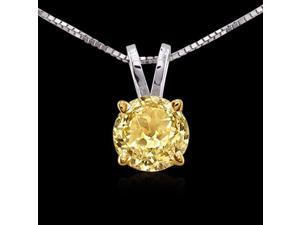 Beautiful diamond pendant 1.01 carat Yellow canary diamond solitaire pendant