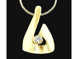 Diamond pendant 0.75 carat diamonds F VS1 pendant gold