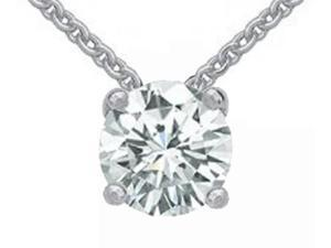 Diamond pendant white gold 1.25 ct. diamond necklace