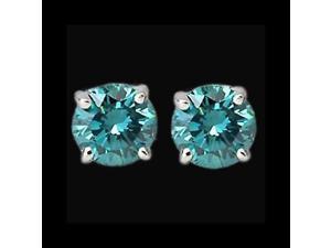 1.50 carat Blue diamond earring stud white gold gorgeous earring diamond studs