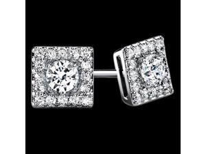 Round diamond stud earrings pair 3.50 carat sparkling diamond earring ear ring