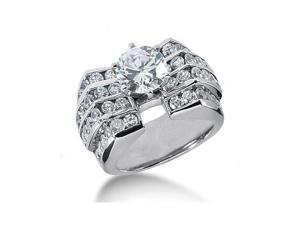Men?s diamonds ring 3.51 cts. gold engagement ring new