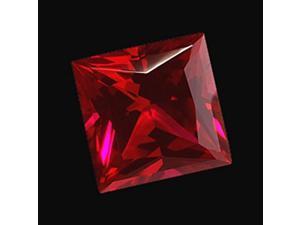 Princess cut SI loose red diamond 4 carat sparkling