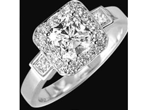 2.51 ct. diamond ring solitaire with accents white gold