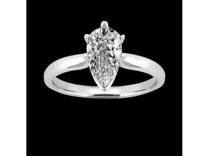 G SI1 Sparkling 2 carat diamond solitaire ring pear cut diamond new