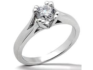 3 carat DIAMOND F VS1 solitaire engagement ring White gold