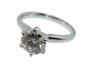 1 ct.diamond solitaire engagement gold ring prongstyle