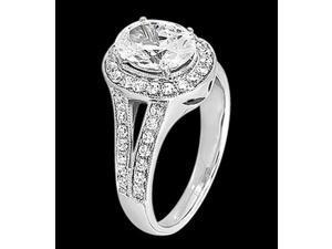 2.25 carat diamonds wedding ring split shank white gold