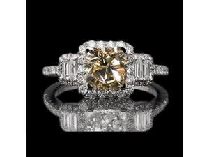 sparkling brown diamond ring dark champagne ring 4 cts.