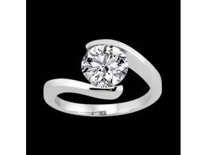 3.01 carat diamond solitaire engagement ring gold white