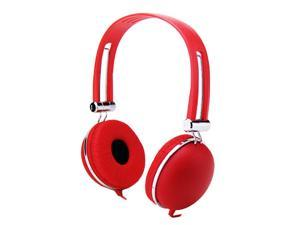 Golden Vocal HF-TX7ST-Red Overhead Stereo Headphones with Microphone