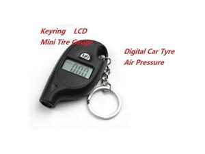 2 Pack Mini Tire Gauge Keyring Digital LCD Digital Car Tyre Air PSI Pressure