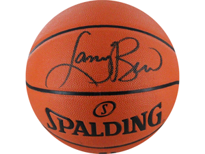 Larry Bird I/O Basketball Signed in Black