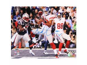 Victor Cruz Signed Super Bowl XLVI Touchdown Horizontal 8x10 Photo