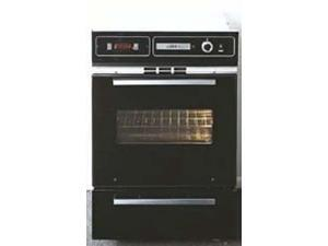 Summit  TEM721DK:  Black  glass  220V  electric  wall  oven  with  digital  clock/timer  and  oven  window&#59;  for  cutout