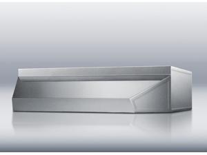 """Summit  SHELL20SS:  20""""  wide  shell  hood  in  stainless  steel"""