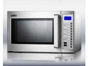 Summit  SCM1000SS:  Commercially  approved  microwave  with  stainless  steel  exterior  and  interior
