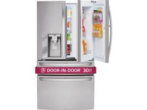 Lg  LMXS30776S:  30  cu.ft.  Super  Capacity  4-Door  French  Door  Refrigerator  w/  CustomChill  Drawer