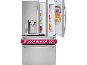Lg  LMXS30776S:  30  cu.ft.  Super  Capacity  4-Door  French  Door  Refrigerator  w/  CustomChill  Drawer