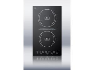Summit  SINC2220:  Built-in  induction  cooktop  with  two  zones,  3100  Watts,  220  Volts,  and  Black  Ceran  smooth