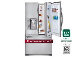 Lg  LFXS29766S:  29  cu.ft.  Ultra-Capacity  3  Door  French  Door  Refrigerator  w/  Door-in-Door  ®