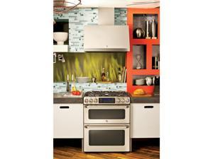 """General  Electric  CGS990SETSS:  GE  Cafe  Series  30""""  Slide-In  Front  Control  Gas  Double  Oven  with  Convection  R"""