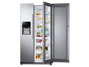"Samsung  RH25H5611SR:  36""-Wide,  24.7  cu.  ft.  Capacity  Side-by-Side  Food  ShowCase  Refrigerator  with  Metal  Coo"