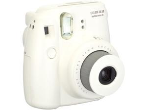 Fujifilm Instax Mini 8 Instant Film Camera (White) -20 Instant Film - Extra Pack of Batteries - Original Fujifilm Mini Compact Camera Case - A Quality 2 in 1 Spray and Lens Brush Pen