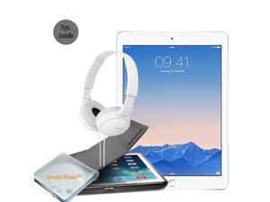 Apple iPad Pro 9.7 Inch Retina Display WiFi 128 GB (silver) - Quality Photo Case For Ipad Pro 9.7 Inch And Micro Fiber Cloth - Sony Headphone. 2016 Model