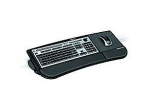 Fellowes 8060101 Tilt-n-Slide Keyboard Manager - Fiberboard - Black