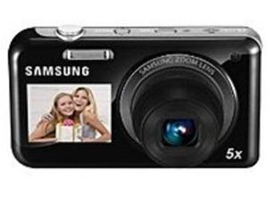 Samsung DualView EC-PL120ZBPBUS 14.2 Megapixels Digital Camera - 5x Digital/5x Optical - 1.5-inch Front-side/2.7-inch LCD Display - Black