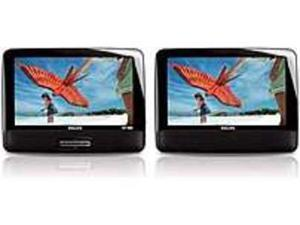 Philips PD9012 9-inch LCD Dual Screen Portable DVD Player - Black