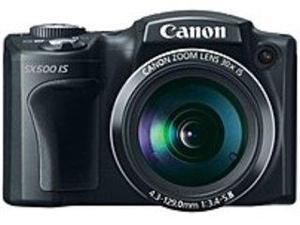 Canon PowerShot 6353B001 SX500 16.0 Megapixels Digital Camera - 30x Optical/4x Digital Zoom - 3.0-inch LCD Display - Black