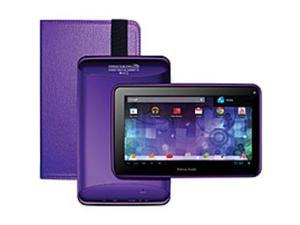Visual Land Prestige Pro ME-7D-16GB-PUR Wi-Fi Tablet PC Bundle with Case - Cortex-A9 1.6 GHz Dual-Core Processor - 1 GB DDR3 RAM - 16 GB Storage - 7.0-inch Display - Android 4.1 Jelly Bean - Purple