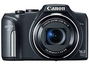 Canon PowerShot 8410B001 SX170 IS 16.0 Megapixels Digital Camera - 16x Optical/4x Digital Zoom - 3-inch LCD Display - Black