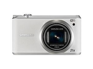 """Samsung WB350F 16.3 Megapixel Compact Camera - White - 3"""" Touchscreen LCD - 16:9 - 21x Optical Zoom - 9.4x - Optical (IS) - 4608 x 3456 Image - 1920 x 1080 Video - HD Movie Mode - Wireless LAN"""