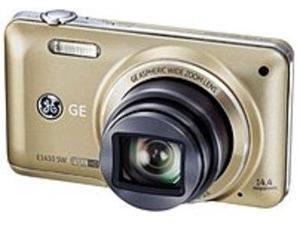 GE E1410SW-CP 14.4 Megapixels Digital Camera - 10x Optical/6x Digital Zoom - 3.0-inch LCD Display - 28 mm Wide Angle Lens - Champagne