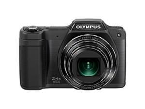 "Olympus Traveller SZ-15 16 Megapixel Compact Camera - Black - 3"" LCD - 16:9 - 24x Optical Zoom - 4x - Digital, Optical (IS) - 3264 x 2488 Image - 1280 x 720 Video - HDMI - PictBridge - HD Movie ..."