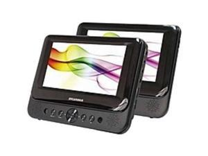Sylvania SDVD8739 7-Inch Dual Widescreen LCD Display Portable Travel DVD Player