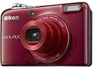 Nikon Coolpix L32 018208264827 26482 20.1 Megapixels Compact Digital Camera - 5x Optical/4x Digital - 3.0-inch LCD Display - Red