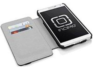 Incipio Watson Carrying Case (Folio) for Smartphone - Black - Vegan Leather, Plextonium