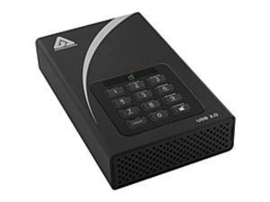 """Apricorn Aegis Padlock ADT-3PL128-2000 2 TB 3.5"""" External Hard Drive - USB 3.0 - 7200 rpm - 8 MB Buffer"""