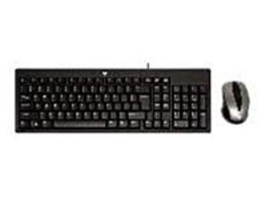 V7 CK0A1-4N6P Standard USB Keyboard and Mouse Combo - Wired - Black
