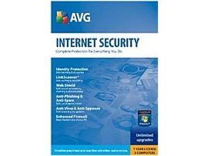 AVG Technologies 892401001843 Internet Security 2010 - 1 Year - 3 PCs