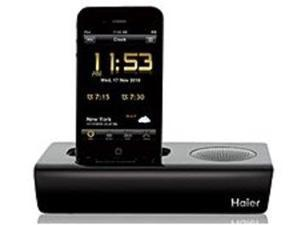 Haier IPDS-1 iPod/iPhone App-Driven Clock Radio and Docking Station - 2 Watts - Black